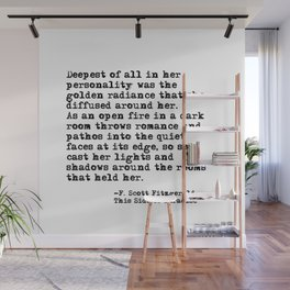 Deepest of all - Fitzgerald quote Wall Mural