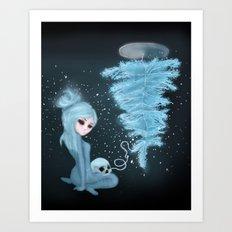 Intercosmic Christmas in Blue Art Print