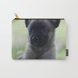 A yellow Shepherd puppy Spok Carry-All Pouch