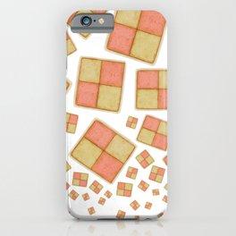 Battenberg Cake tumbling - Vector illustration iPhone Case