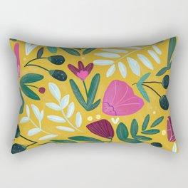 Mustard bouquet Rectangular Pillow