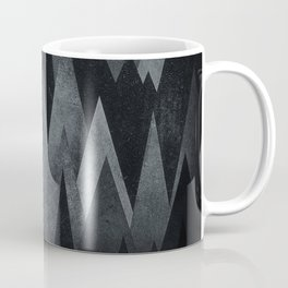 Dark Mystery Abstract Geometric Triangle Peak Wood's (black & white) Coffee Mug