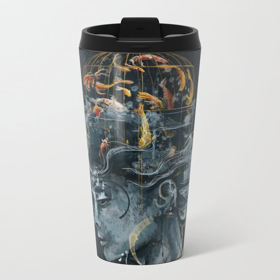 Dream in a Cage Metal Travel Mug