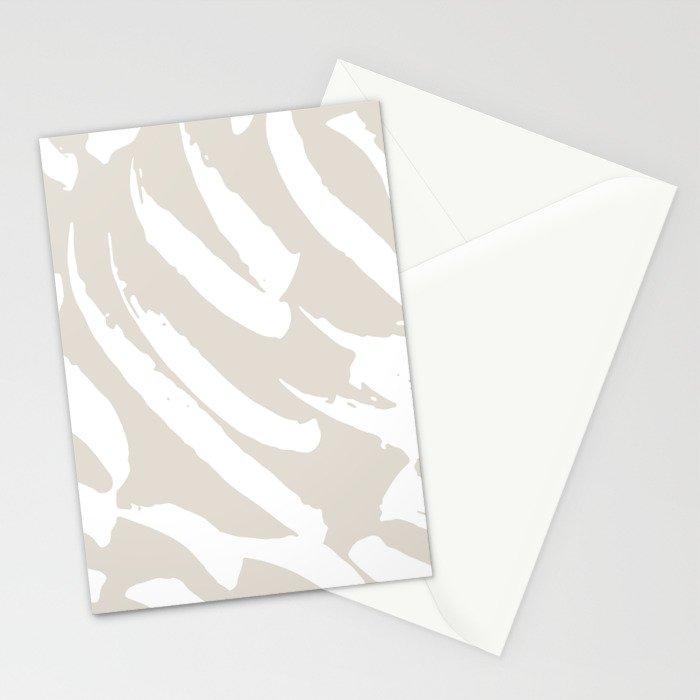 Neutral Brush Strokes Stationery Cards