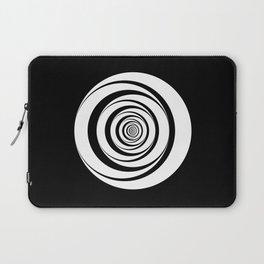 Black White Circles Optical Illusion Laptop Sleeve