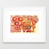 pigs Framed Art Prints featuring Pigs by takmaj