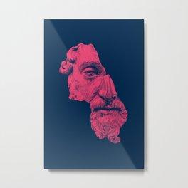 MARCUS AURELIUS ANTONINUS AUGUSTUS / prussian blue / vivid red Metal Print