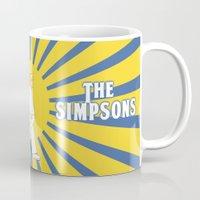 simpson Mugs featuring Simpson Sun by sgrunfo
