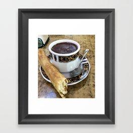 Churro and Chocolate Framed Art Print