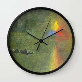 Les Origines, Rainbow and Pyramids landscape by Paul Serusier Wall Clock
