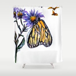 Erika Butterfly One Shower Curtain