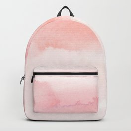 Blush pink hand painted watercolor paint gradient Backpack