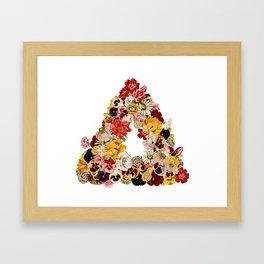 flowerangle Framed Art Print