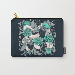 Berries and Snake Florals Carry-All Pouch