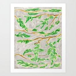 Hemlock Study Brush Pen Illustration by Amanda Laurel Atkins Art Print