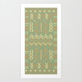 Sage Mudcloth Art Print