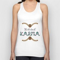 karma Tank Tops featuring Karma by famenxt