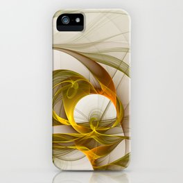 Fractal Art Precious Metals, Abstract Graphic iPhone Case
