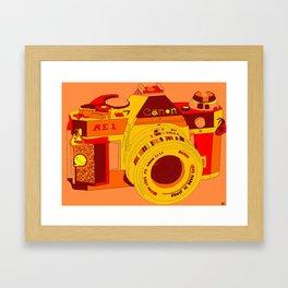Canon Rebel Camera - Retro Framed Art Print