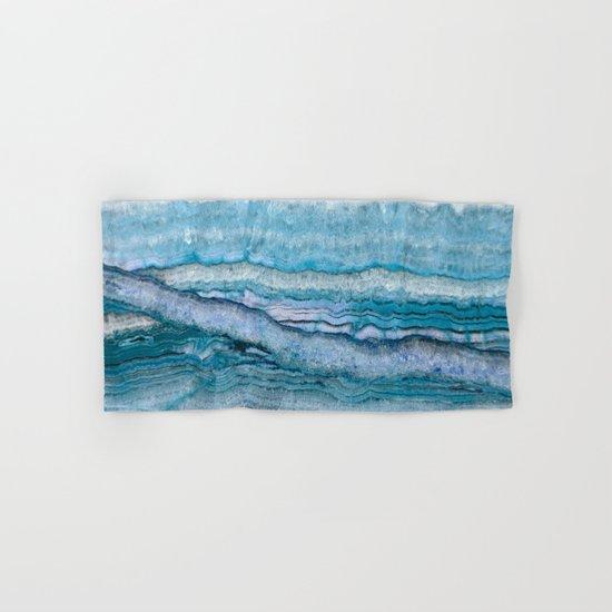 Mystic Stone Aqua Blue Hand & Bath Towel