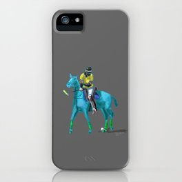 poloplayer turquoise grey iPhone Case