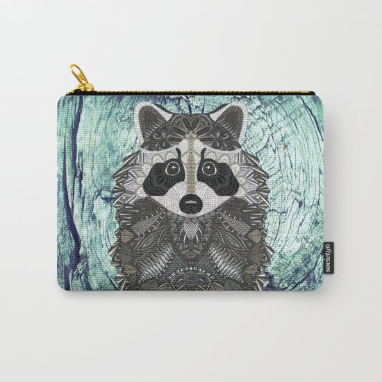 Ornate Raccoon Carry-All Pouch