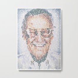 Stan Lee. Metal Print