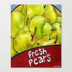 Fresh Pears Canvas Print