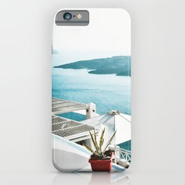 Greece Santorini View iPhone Case