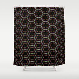 Awesome Doodle Pattern 519-1B Shower Curtain