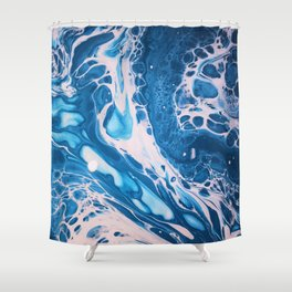 Glossy Currents 1 Shower Curtain