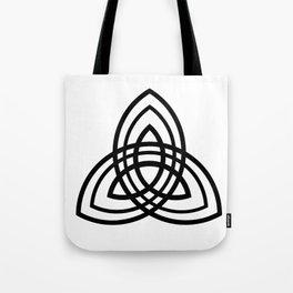 Black Triple Trefoil Tote Bag
