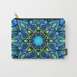 Vivid Blues Mandala Carry-All Pouch