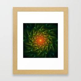 Beautiful Orange-Green Desert BarrelCactus Spiral Framed Art Print