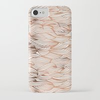 rose gold iPhone & iPod Cases featuring Rose Gold Waves by Cat Coquillette