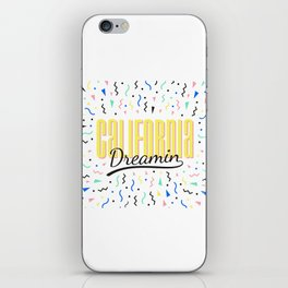 California dreamin (memphis pattern) iPhone Skin