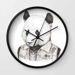 Punk Rock Panda Wall Clock