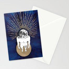 Tête dans la lune Stationery Cards