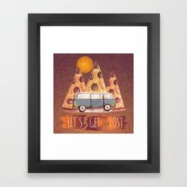 Lost Pizza Framed Art Print