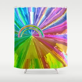 Rainbow Two Shower Curtain