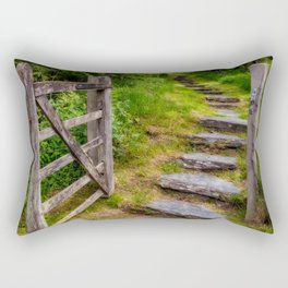 Path Into The Forest Rectangular Pillow