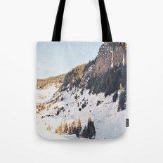 Mountain Snow in the Sun Tote Bag