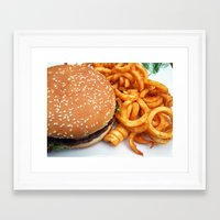 hamburger Framed Art Prints featuring Hamburger by LoRo  Art & Pictures
