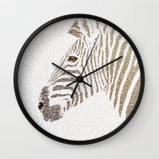 The Intellectual Zebra Wall Clock