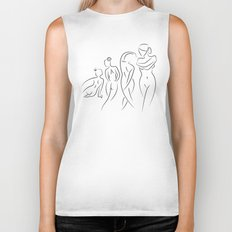 Ladies in Lines Biker Tank