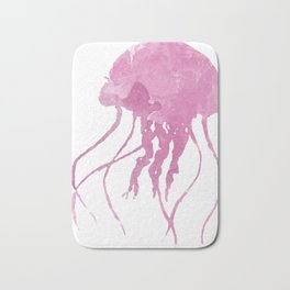Watercolor Jellyfish Bath Mat