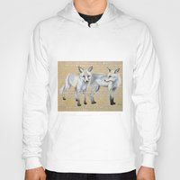 foxes Hoodies featuring foxes by Ashley White Jacobsen