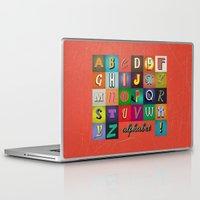 alphabet Laptop & iPad Skins featuring Alphabet by rob art | simple