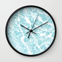 pool Wall Clocks featuring Pool by Claire Jantzen