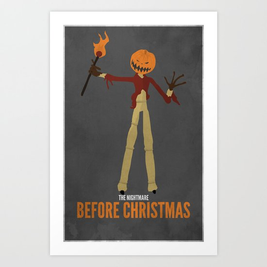 The Nightmare Before Christmas | Pumpkin Jack Variant Art Print